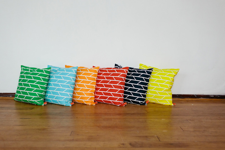Convergence Cushions: modern  by Laura Spring, Modern