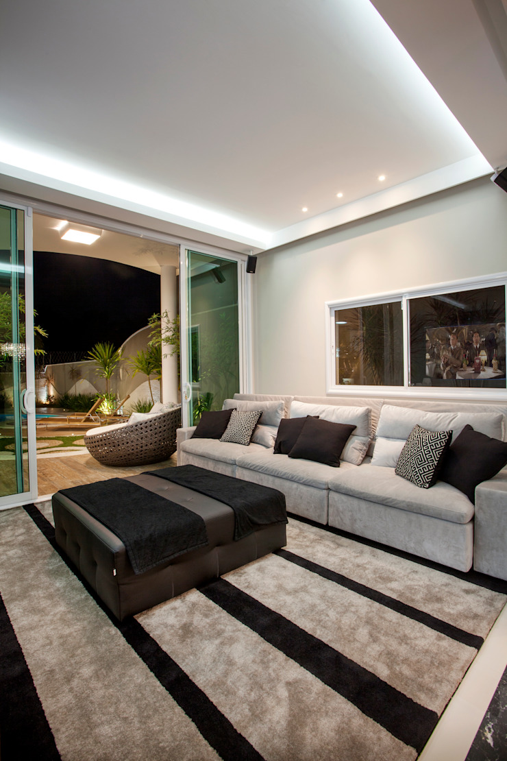 Casa Tripoli Salas multimídia modernas por Arquiteto Aquiles Nícolas Kílaris Moderno