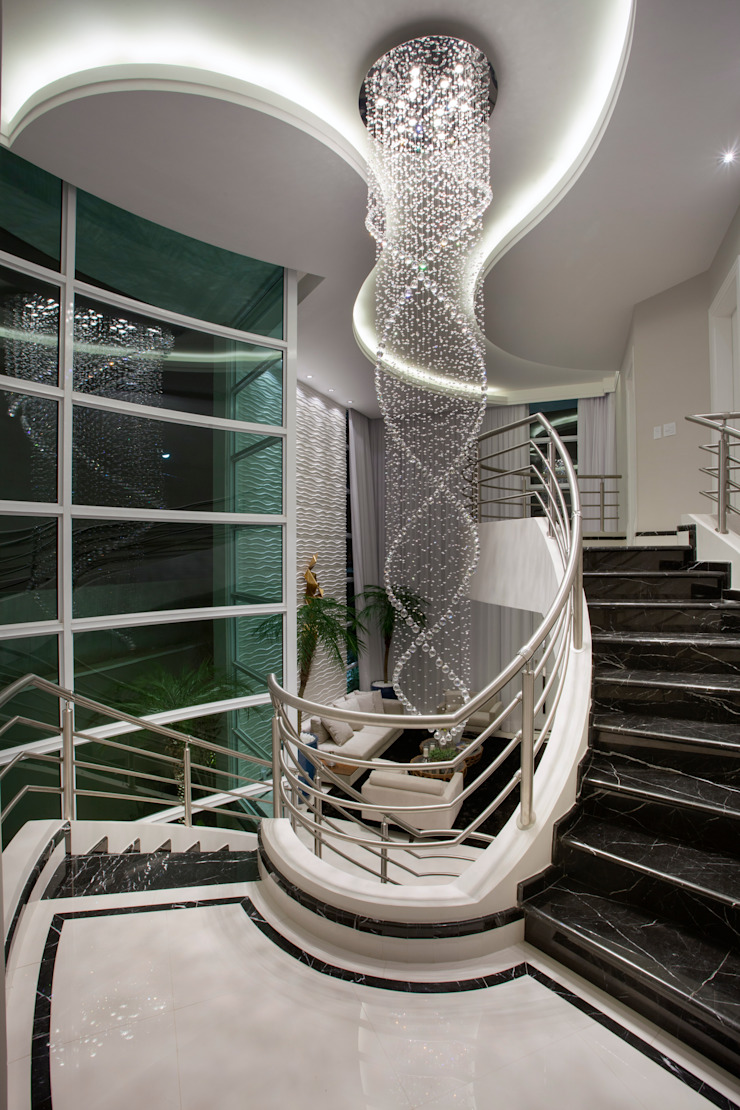 Casa Tripoli Corredores, halls e escadas modernos por Arquiteto Aquiles Nícolas Kílaris Moderno Mármore