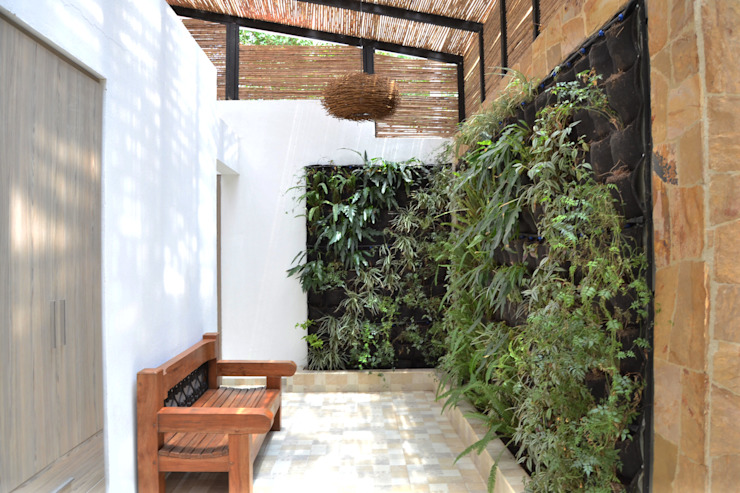 Pasillos y vestíbulos de estilo  por santiago dussan architecture & Interior design, Minimalista