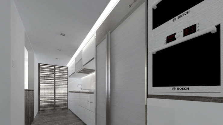 Cucina minimalista di Odart Graterol Arquitecto Minimalista PVC