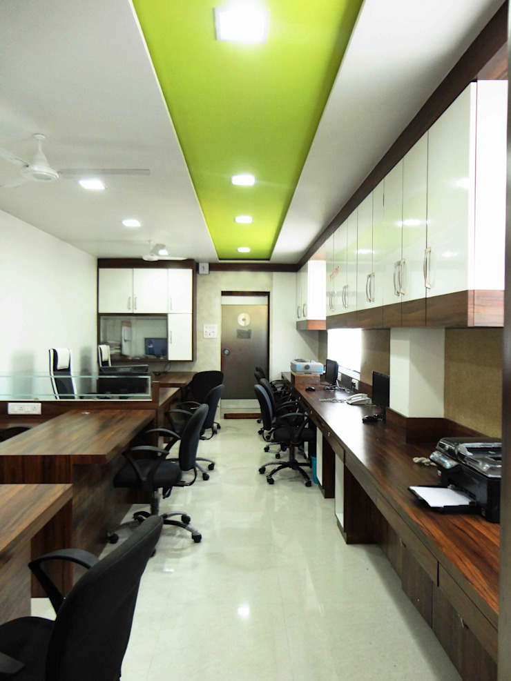 Office Minimalist study/office by SNEHA MOHTA Minimalist Wood Wood effect