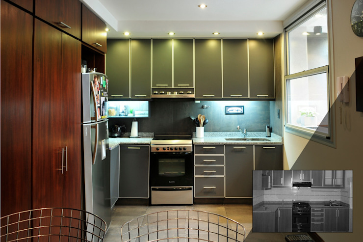 Cocina Cocinas de estilo minimalista de Radrizzani Rioja Arquitectos Minimalista Tablero DM