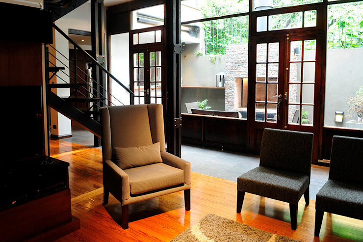 Sala de estar Salas de estilo minimalista de Radrizzani Rioja Arquitectos Minimalista Madera Acabado en madera