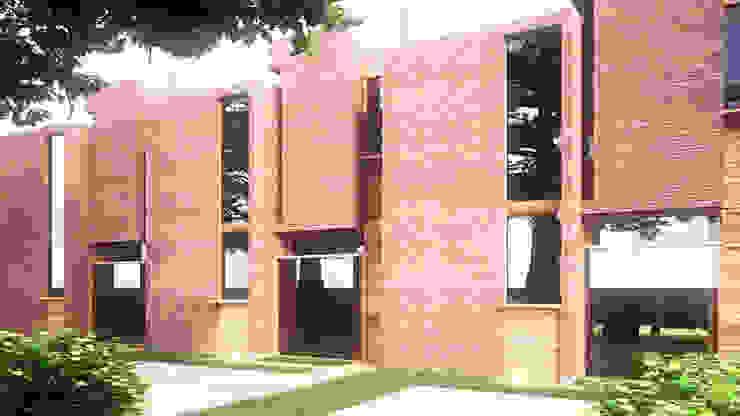 Town Houses Odart Graterol Arquitecto Casas de estilo ecléctico Ladrillos