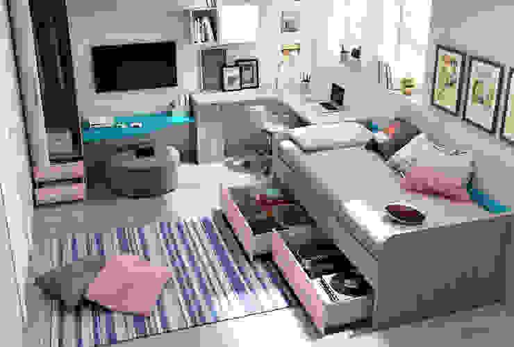 Dormitorio Juvenil con sistema TOP 002 de Andar por Casa Moderno
