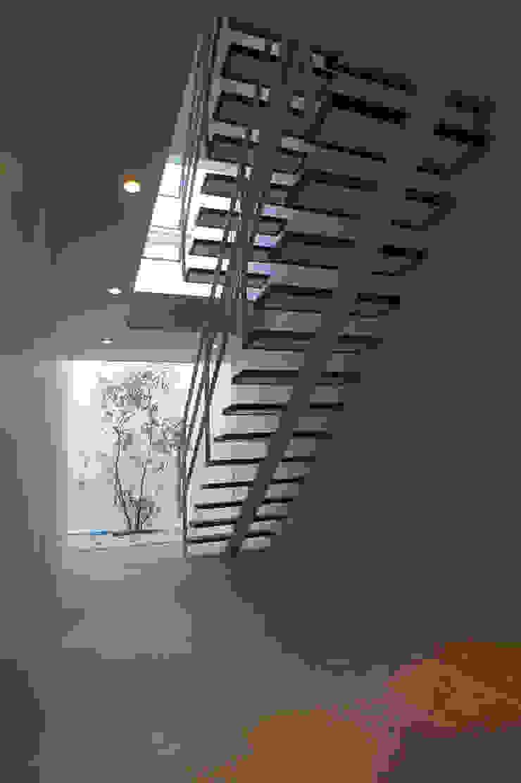 1階玄関ホール モダンスタイルの 玄関&廊下&階段 の 東章司建築研究所 モダン タイル