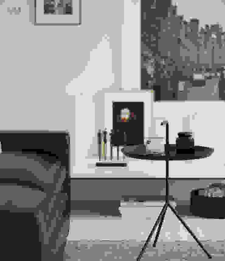 Sala Blanco & Negro Salones escandinavos de BOOX Escandinavo