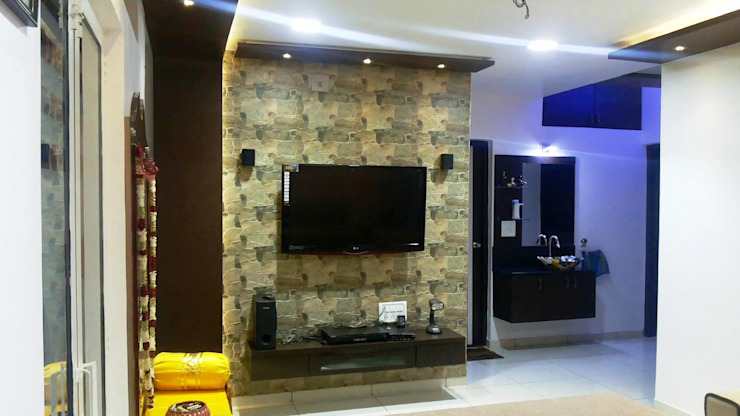 Living Room: classic  by ZEAL Arch Designs,Classic