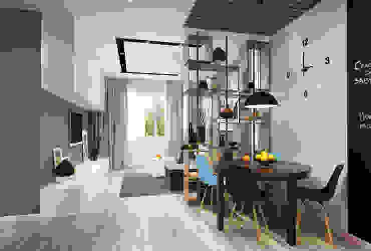 Дизайн-проект квартиры для молодой пары. Кухни в эклектичном стиле от Катя Волкова Эклектичный
