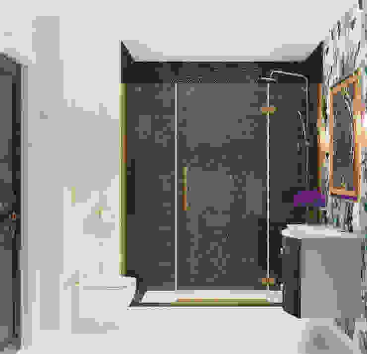 Дизайн-проект ванной комнаты. Ванная комната в эклектичном стиле от Катя Волкова Эклектичный