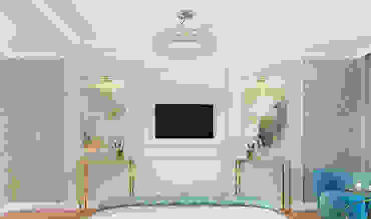 Дизайн-проект гостевой комнаты. Спальня в эклектичном стиле от Катя Волкова Эклектичный