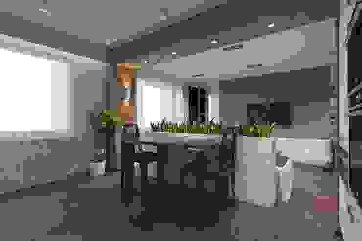 дизайн-проект однокомнатной квартиры для молодого человека. Кухня в стиле модерн от Катя Волкова Модерн