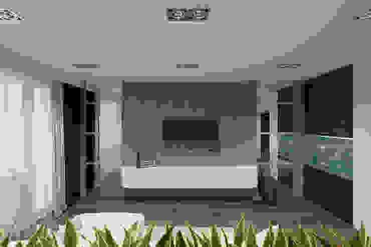 дизайн-проект однокомнатной квартиры для молодого человека. Гостиная в стиле модерн от Катя Волкова Модерн