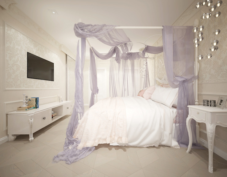 """Спальня """"Pearl"""" Спальня в классическом стиле от Студия дизайна Дарьи Одарюк Классический"""