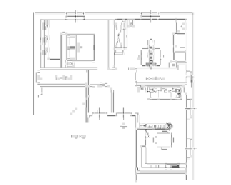 Salones de estilo moderno de ARCHITETTO LAURA LISBO Moderno