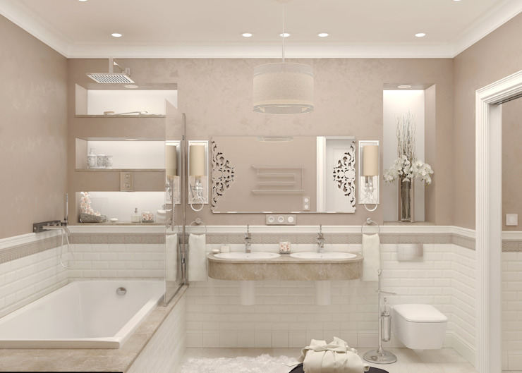Ванная Ванная в классическом стиле от Студия дизайна Дарьи Одарюк Классический