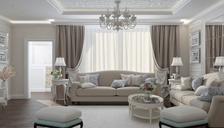 Classic style living room by Студия дизайна Дарьи Одарюк Classic