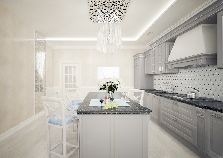 Кухня в стиле неоклассика vol.1 Кухня в классическом стиле от Студия дизайна Дарьи Одарюк Классический