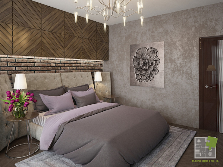 Eclectic style bedroom by Елена Марченко (Киев) Eclectic