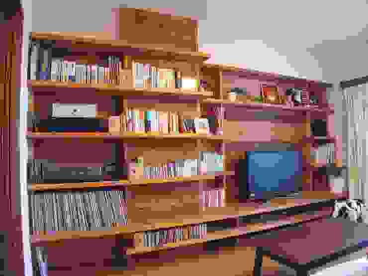 横浜市 I邸リノベーション01 オリジナルデザインの リビング の 阿部工務所 オリジナル 木 木目調