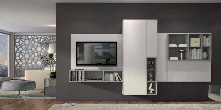 Estantes de sala de estar Living room shelves www.intense-mobiliario.com Klein http://intense-mobiliario.com/product.php?id_product=3653 por Intense mobiliário e interiores; Minimalista