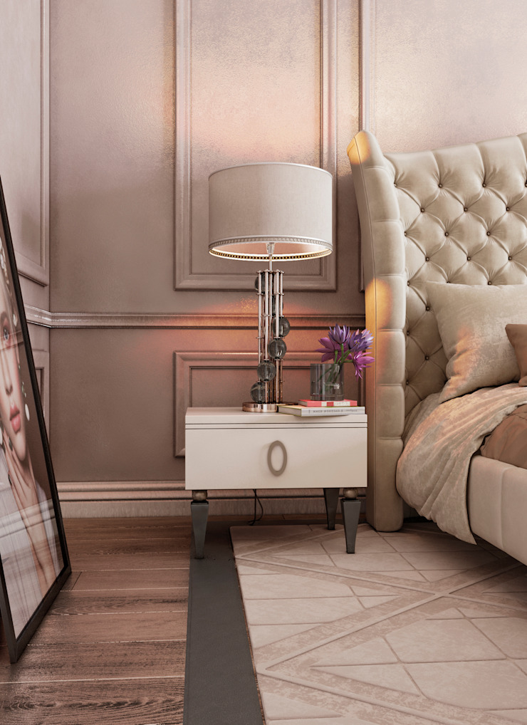 Спальня Неоклассика vol.4 Спальня в классическом стиле от Студия дизайна Дарьи Одарюк Классический