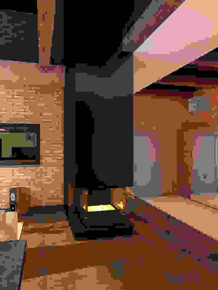 Теплая квартира Гостиная в стиле лофт от Студия Интерьерных Решений Десапт Лофт