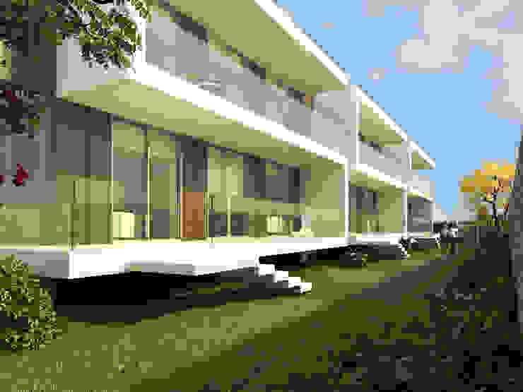 Fachada frontal: Casas de estilo  por Oleb Arquitectura & Interiorismo, Moderno