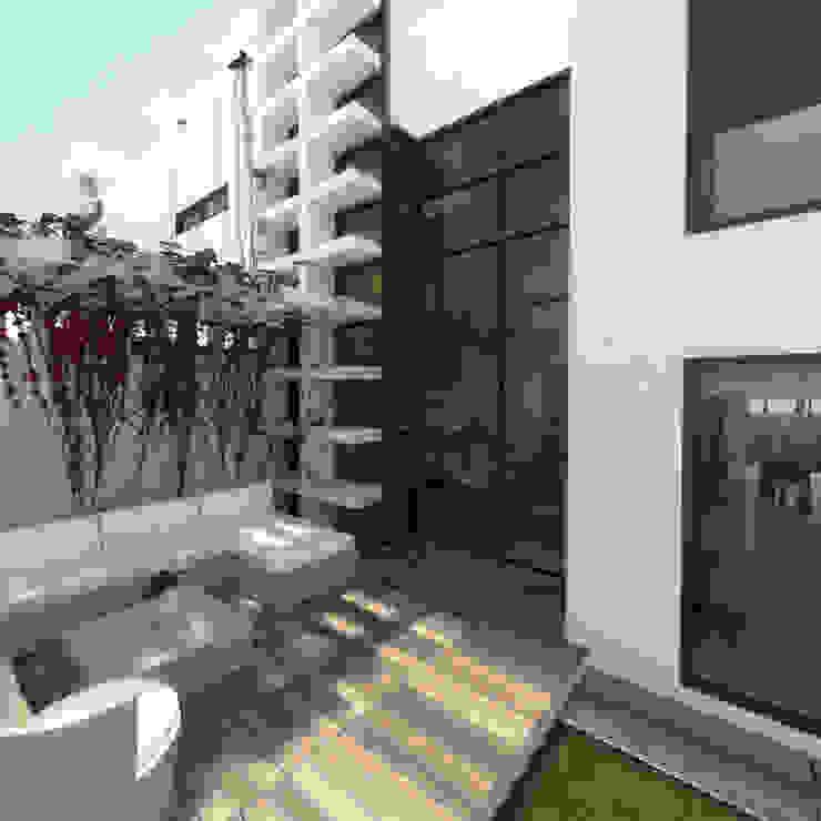 Terraza unidad de vivienda Balcones y terrazas de estilo moderno de Oleb Arquitectura & Interiorismo Moderno
