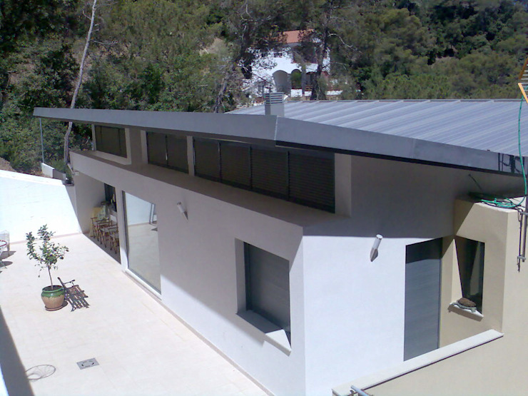 Fachada Posterior Casas modernas de Oleb Arquitectura & Interiorismo Moderno