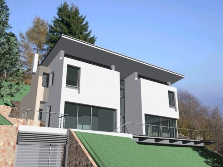 Fachada de Oleb Arquitectura & Interiorismo Moderno