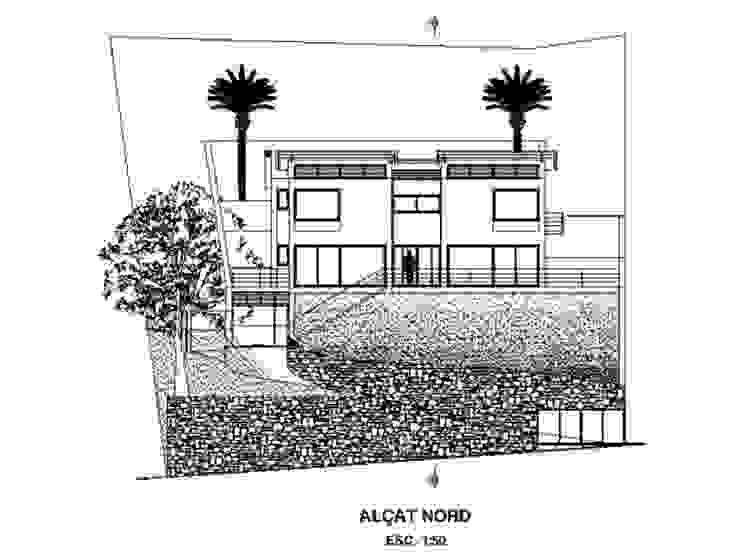 Plano Fachada de Oleb Arquitectura & Interiorismo Moderno