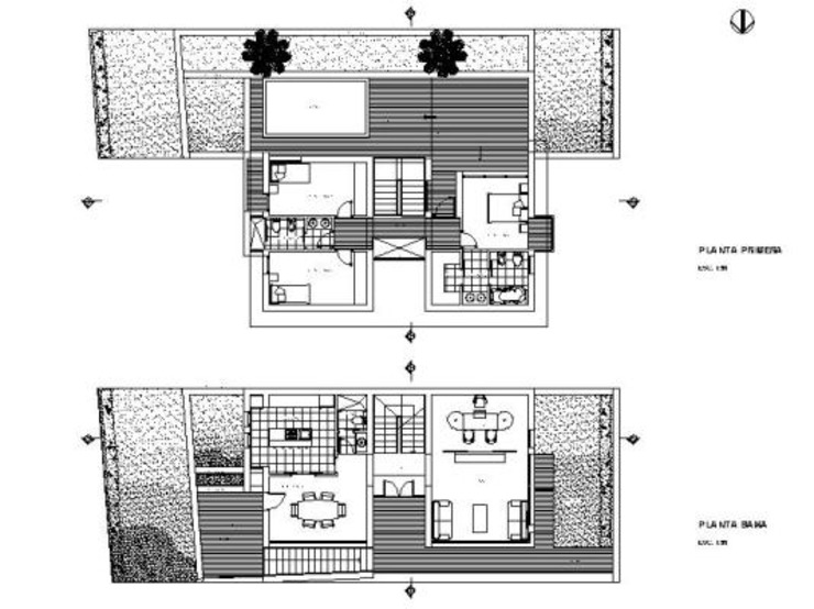 Plantas de Oleb Arquitectura & Interiorismo Moderno