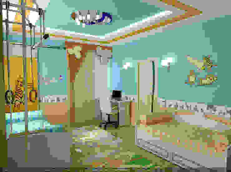 """Детская Мансардная """"Тачки"""" Цунёв_Дизайн. Студия интерьерных решений. Детская комнатa в стиле минимализм"""