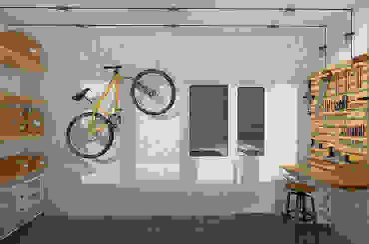 Визуализации проекта 2-х уровневой квартиры Балкон и терраса в стиле минимализм от Alyona Musina Минимализм