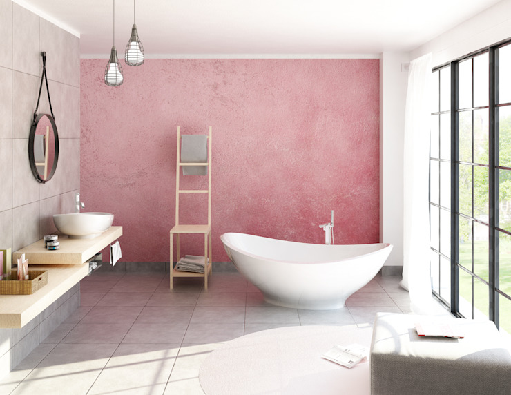 Elisabetta Goso >architect & 3d visualizer< Industrial style bathroom Pink