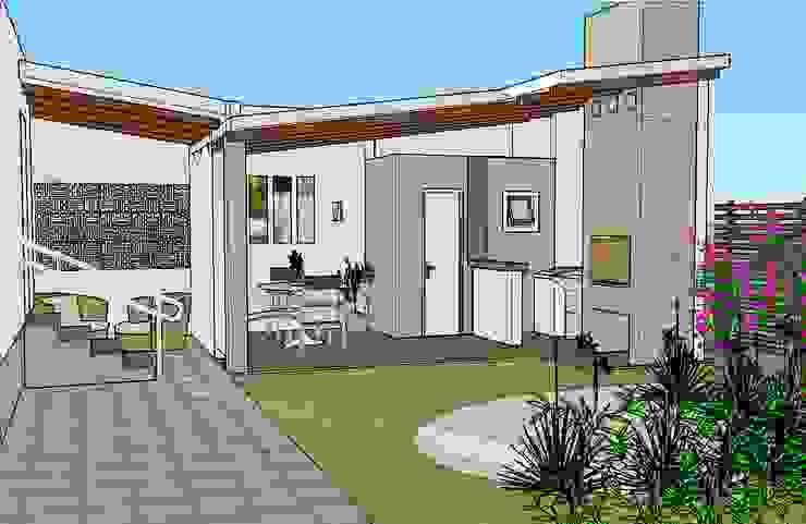 Área gourmet Garagens e edículas campestres por Graziela Alessio Arquitetura Campestre