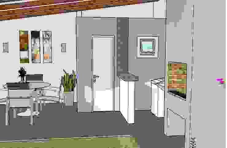 Lavabo e lavanderia Garagens e edículas campestres por Graziela Alessio Arquitetura Campestre