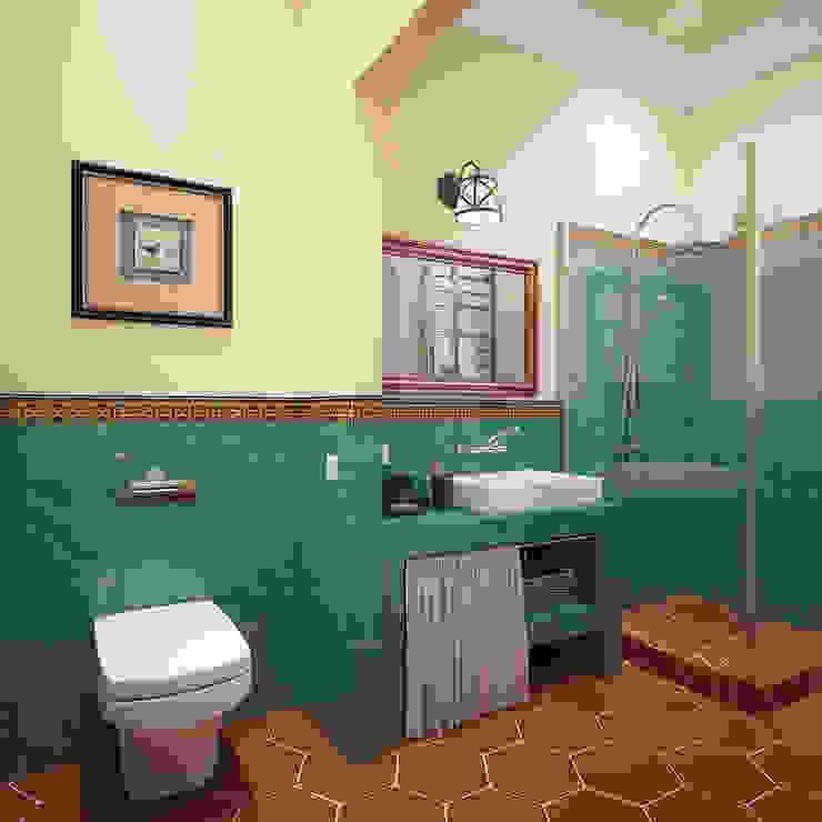 """Ванная. """"Подмосковное кантри"""" Ванная комната в стиле кантри от «Студия 3.14» Кантри"""