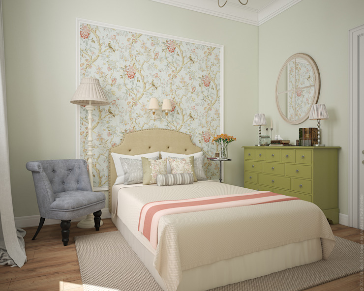 Bedroom by «Студия 3.14», Country