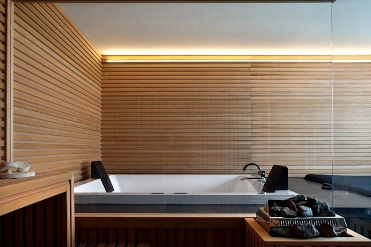 Rustic style spa by MIDE architetti Rustic