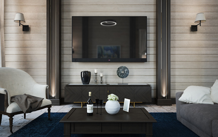 Дизайн-проект гостиной Гостиная в классическом стиле от Way-Project Architecture & Design Классический