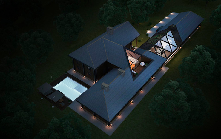 Проект дома в американском стиле: Дома в . Автор – Way-Project Architecture & Design,