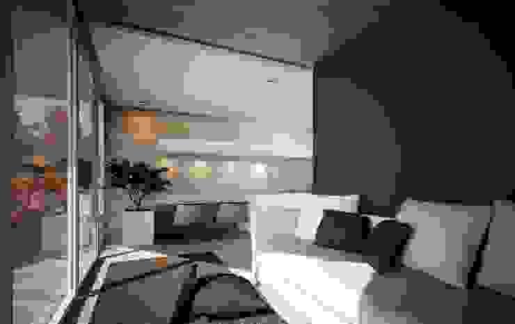 проект дома в стиле минимализм Гостиная в стиле минимализм от Way-Project Architecture & Design Минимализм
