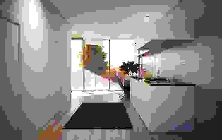 проект дома в стиле минимализм Кухня в стиле минимализм от Way-Project Architecture & Design Минимализм