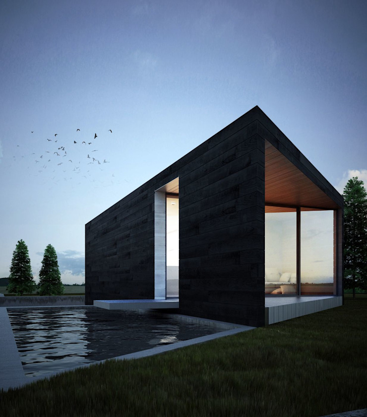 проект дома в стиле минимализм Бассейн в стиле минимализм от Way-Project Architecture & Design Минимализм