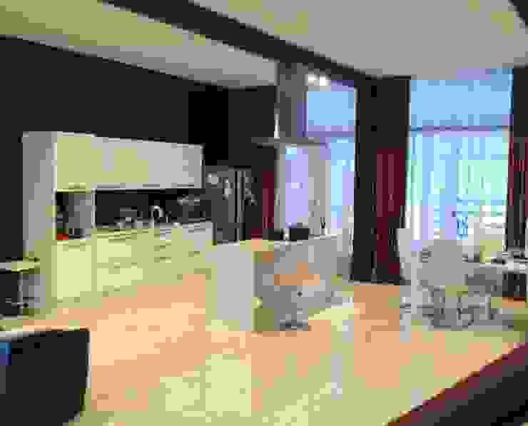 Современный фахверк Столовая комната в стиле модерн от clear-house Модерн