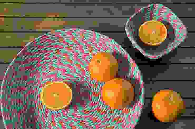 Jinja - Bowls Collection por Jinja Moderno Têxtil Ambar/dourado