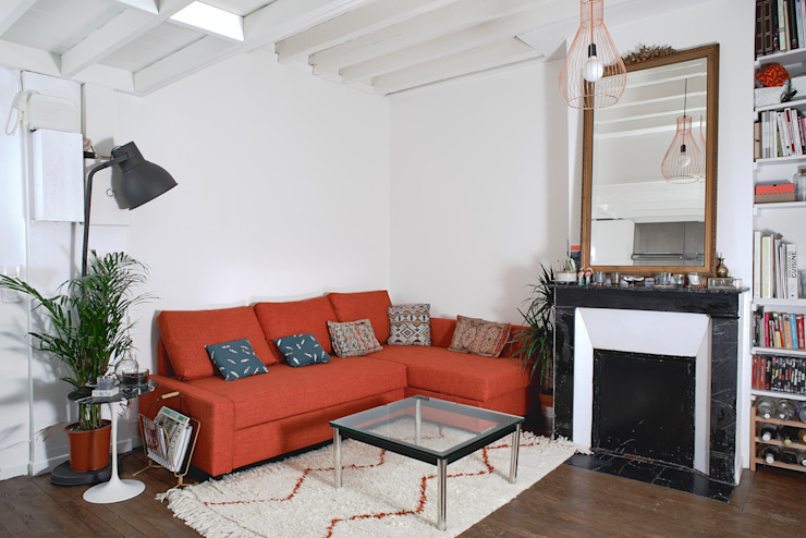 28m2 Salon moderne par Croisle Architecture Moderne